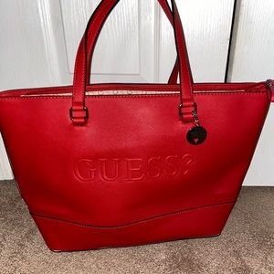 GUESS red tote bag